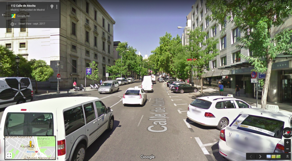 Configuración carriles Calle Atocha - Dos carriles