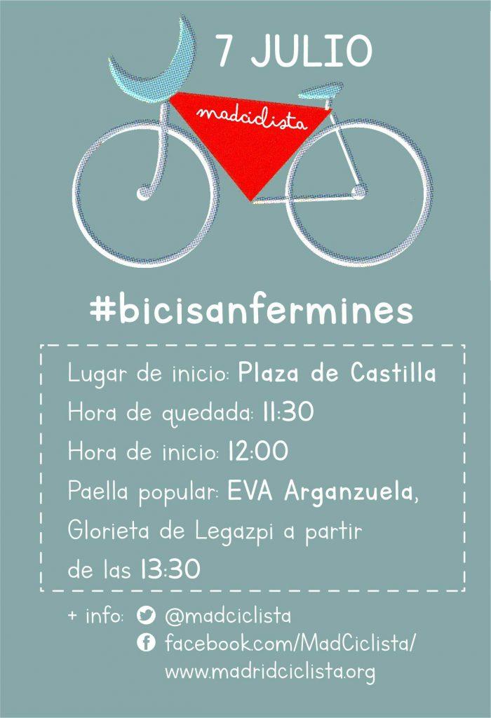 Cartel de los BiciSanFermines 2018