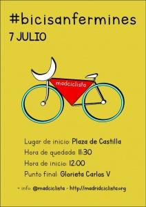 cartel de los Bici San Fermines 2019