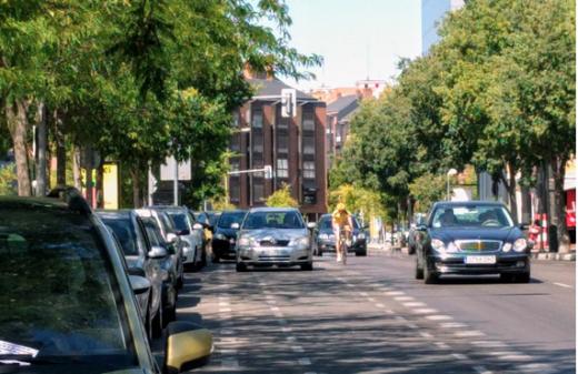 Carril Bici en Gran Vía de Hortaleza