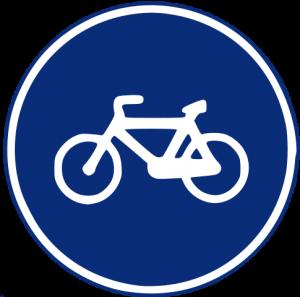 Señal de vía obligatoria para bicicletas