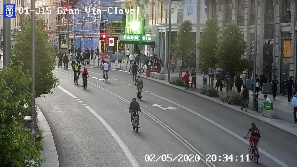 Captura cámara de tráfico Gran Vía - Clavel