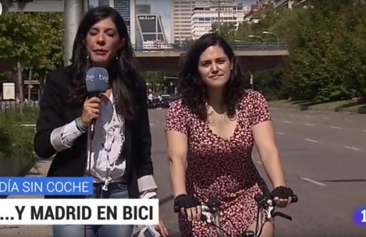 Hablamos en el telediario de TVE en el día Europeo sin coches.