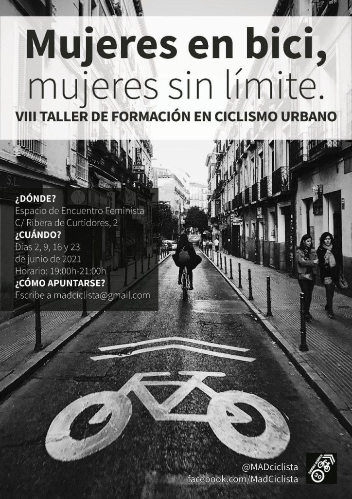 Vuelve la VIII edición del Taller Mujeres en bici, mujeres sin límites